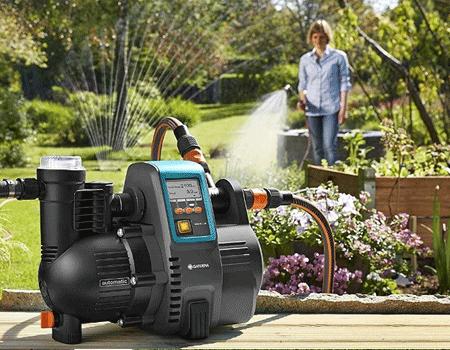 Bomba de agua para riego de jardín