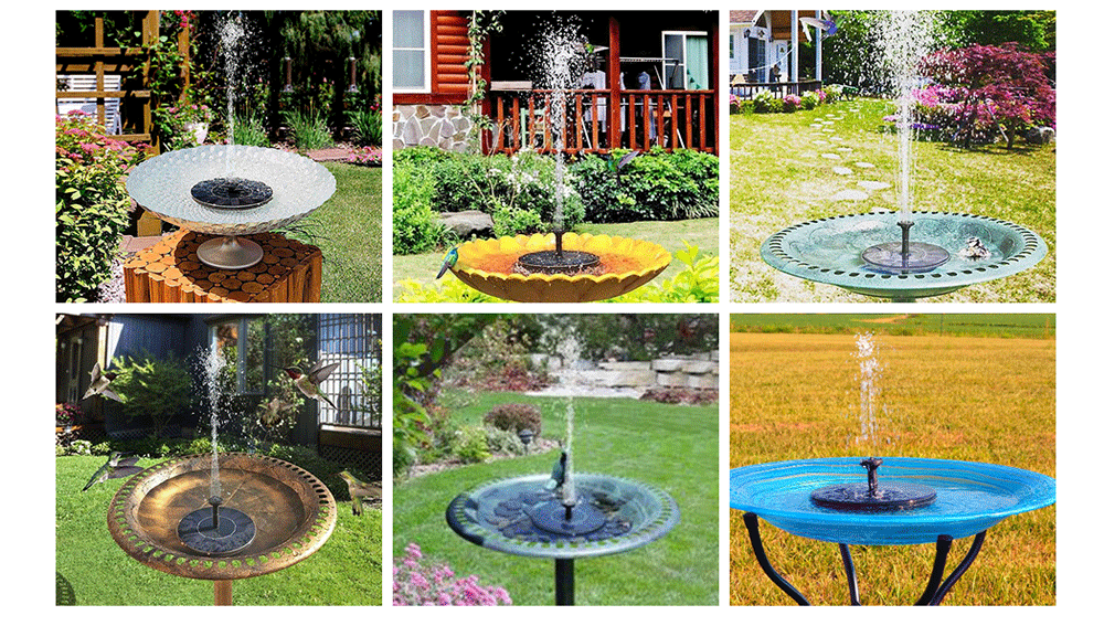 bomba de agua solar para fuentes ornamentales